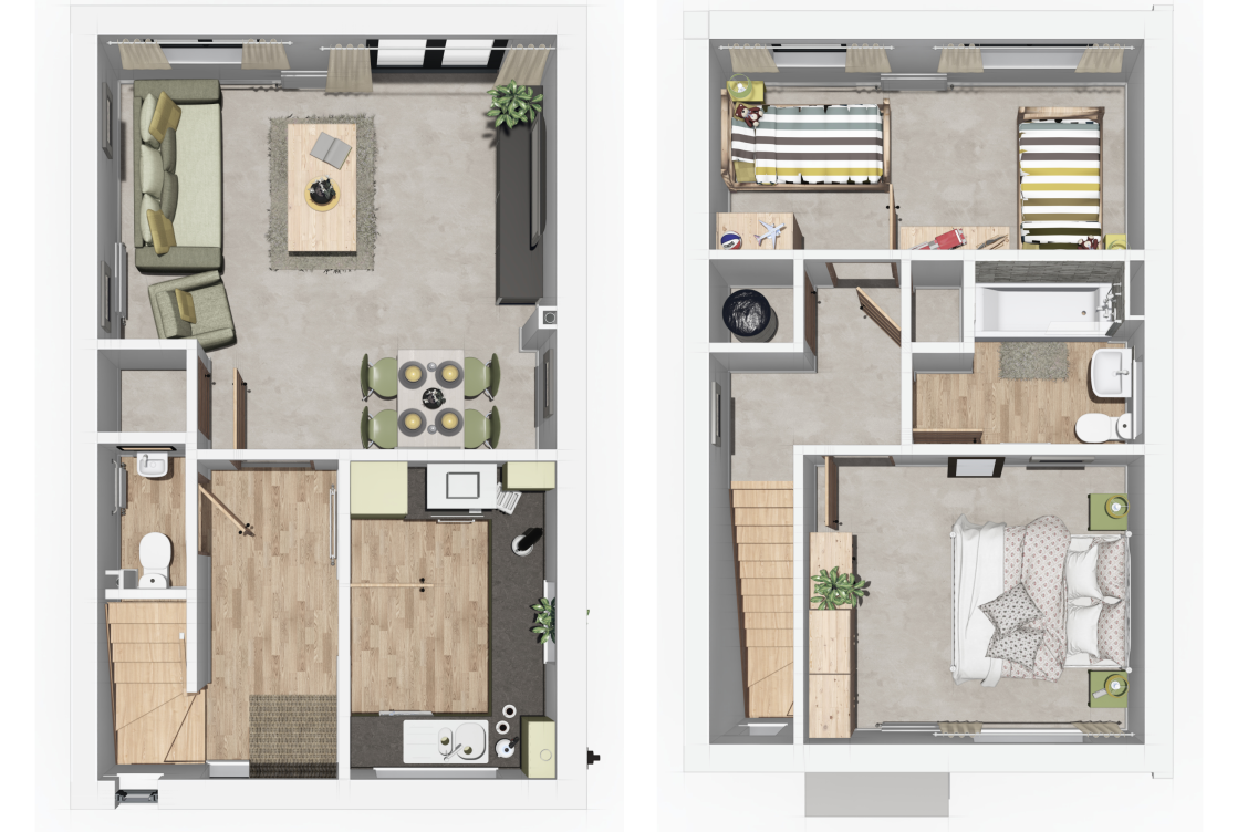 Denton Semi Floor Plan